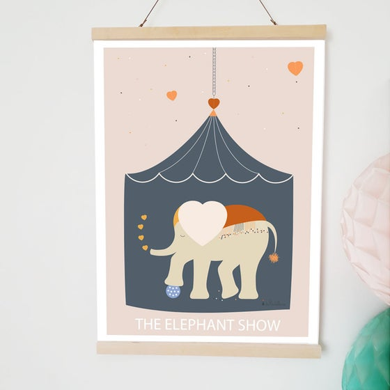 Image of Affiche - The elephant show (A3)