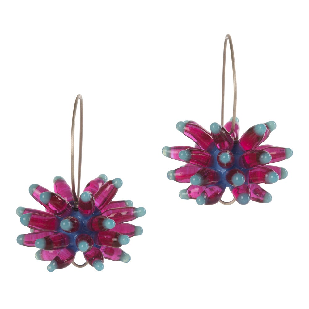 Image of Anemone Earrings, Pink Purple
