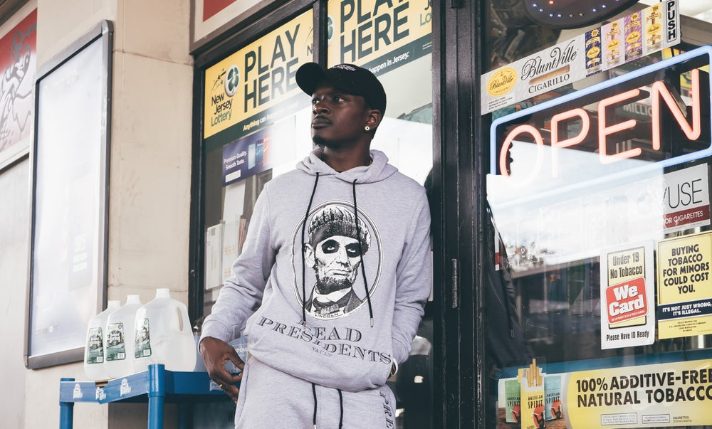 Image of DEAD PRESIDENTS HOODY (HEATHER GREY)