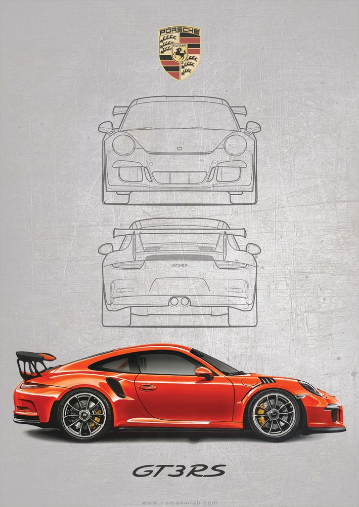 Image of Porsche 911 GT3 RS Poster Print