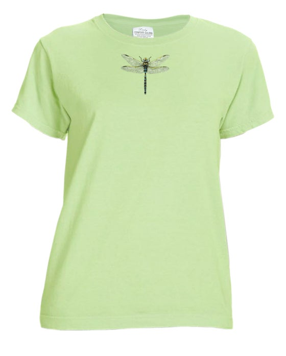 Image of Dragonfly Ladies garment dyed t-shirt