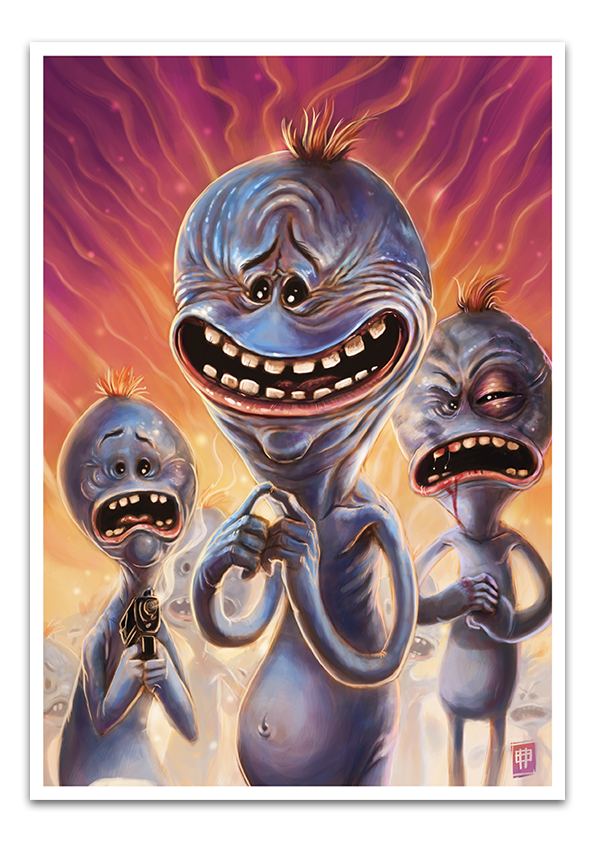 Image of Mr Meeseeks -LIMITED EDITION- Signed and numbered