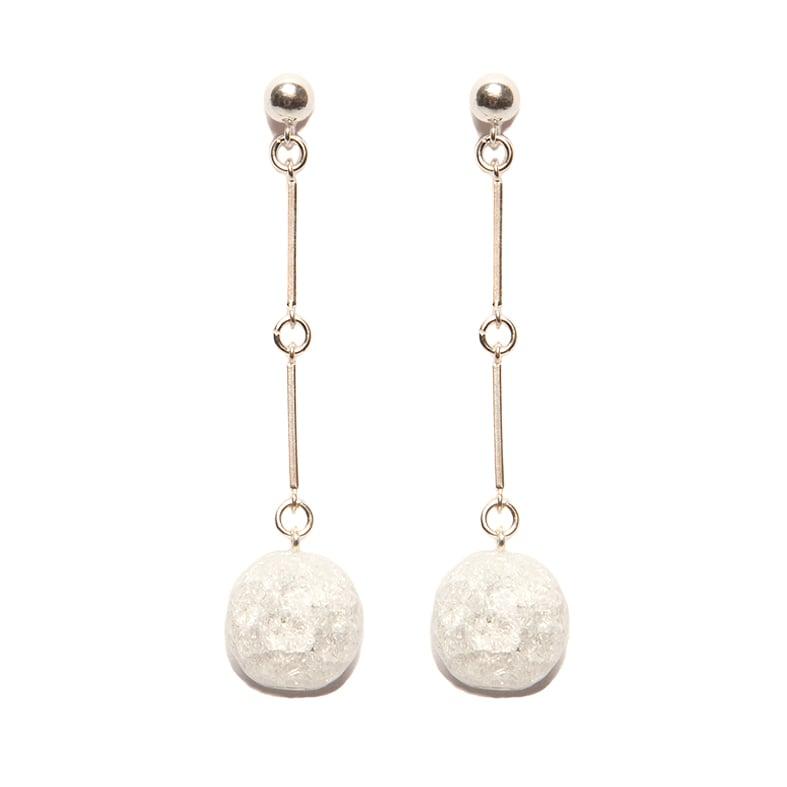 "Image of ""CODA"" Quartz Stone Sterling Silver Earrings"