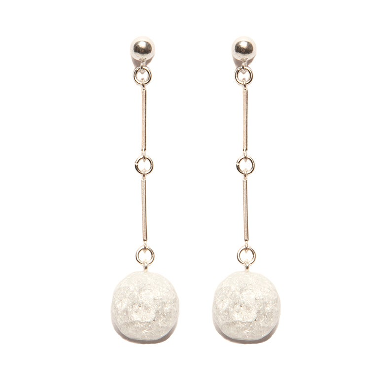 "Image of ""CODA"" Quartz Stone Sterling Silver Earrings"
