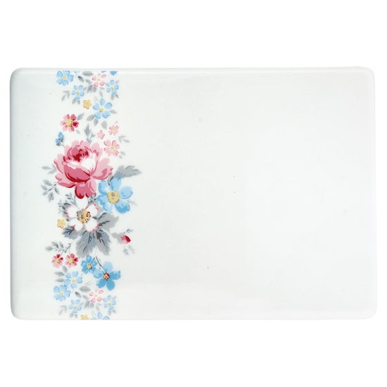 Image of GreenGate Buttering Board ~ Marie Pale Grey Design