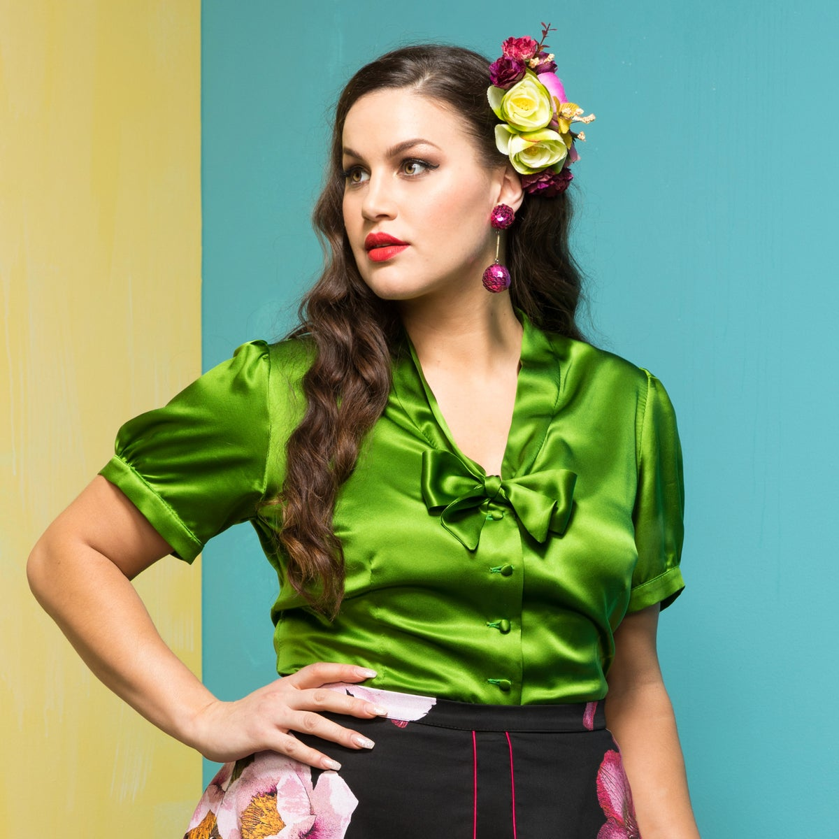 Image of DANZON SILK BLOUSE (other options available)