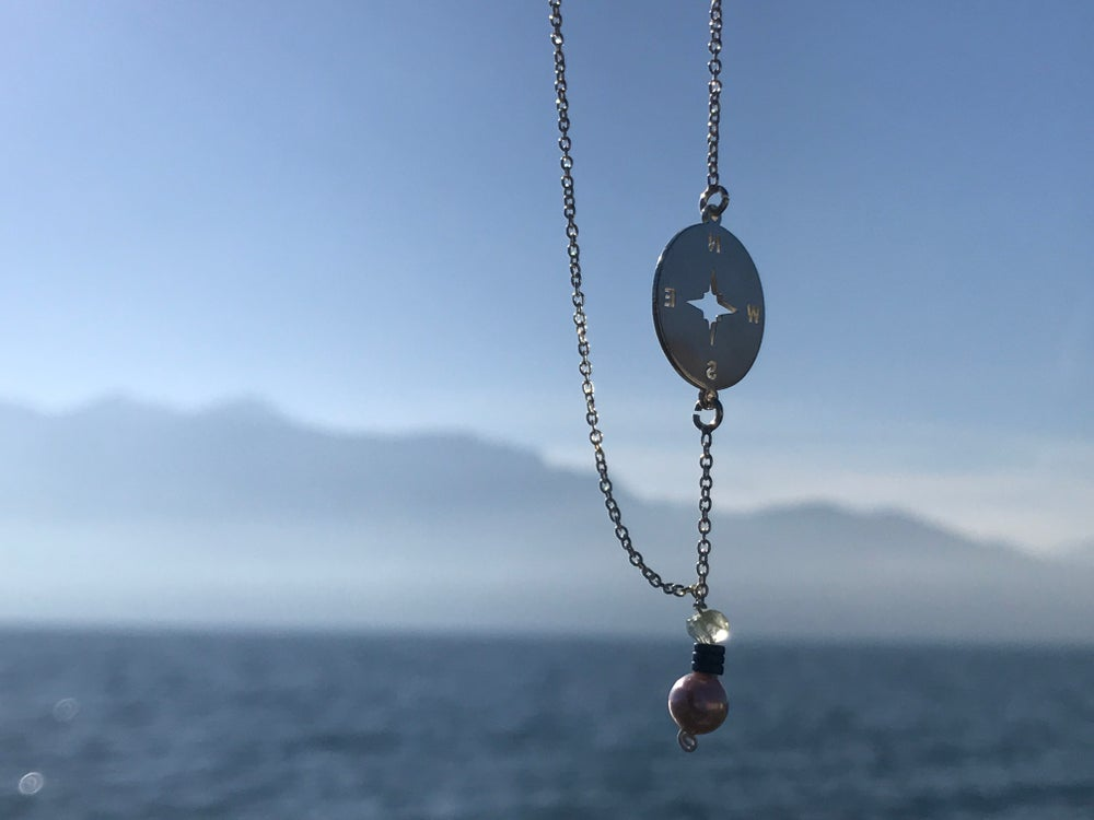 Image of compass pendant