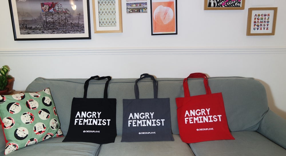 Image of ANGRY FEMINIST tote bag