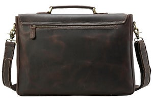 "Image of Men's Extra Large Handmade Vintage Leather Briefcase / 17"" MacBook Pro 16"" Laptop Bag #n14XL"