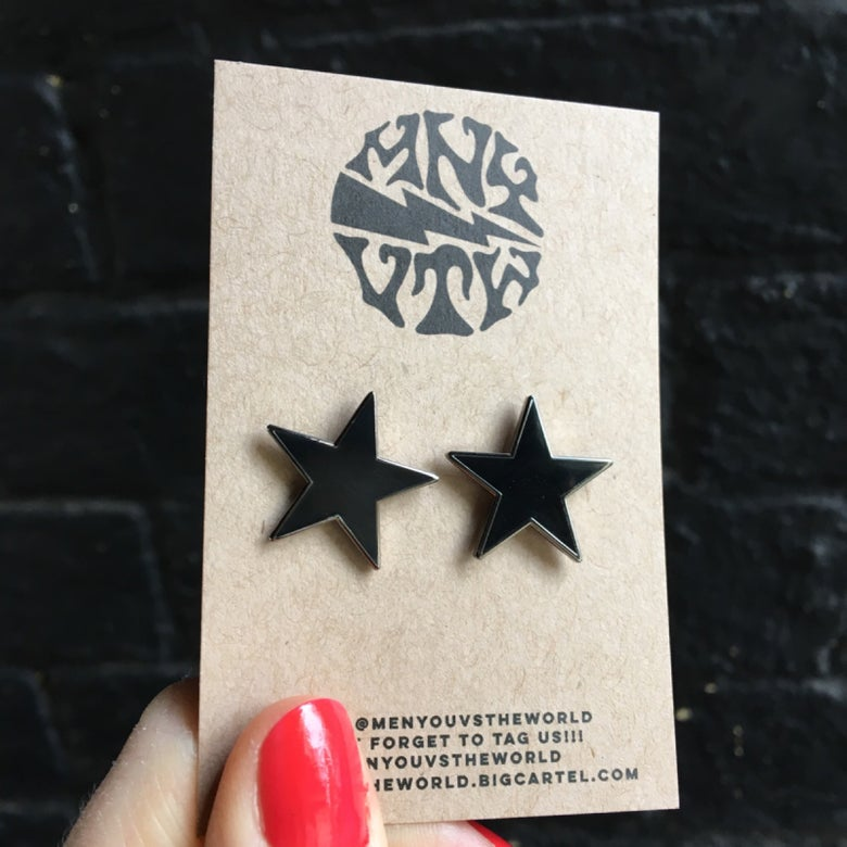 Image of Black Star Pin Set