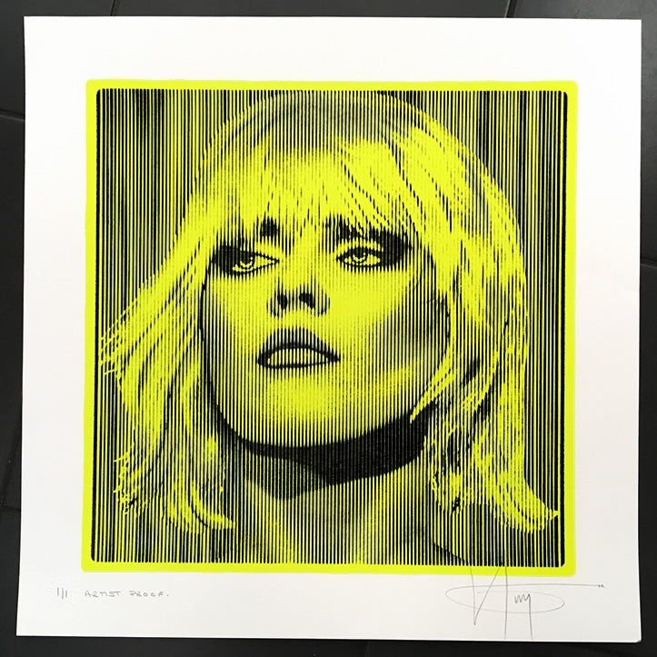 Image of DEBBIE HARRY.... PARALLEL LINES nmeon yellow 1/1 proof
