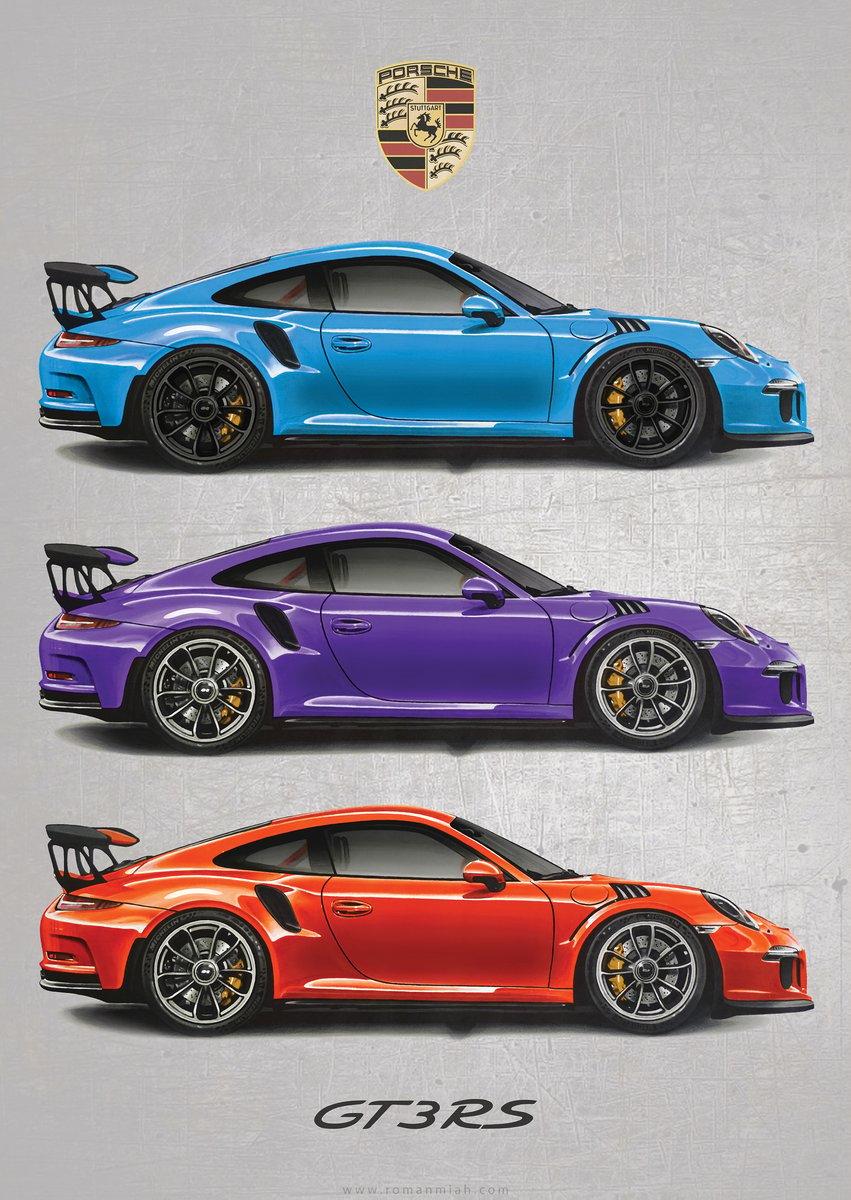 Porsche 911 Gt3 Rs Poster Print Special Edition Roman Miah