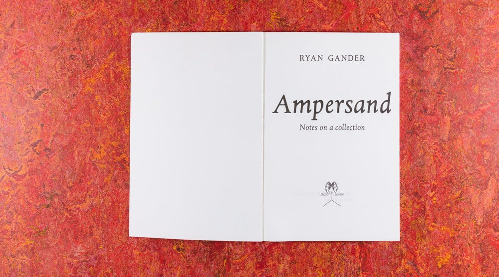 Image of Ampersand<br /> — Ryan Gander