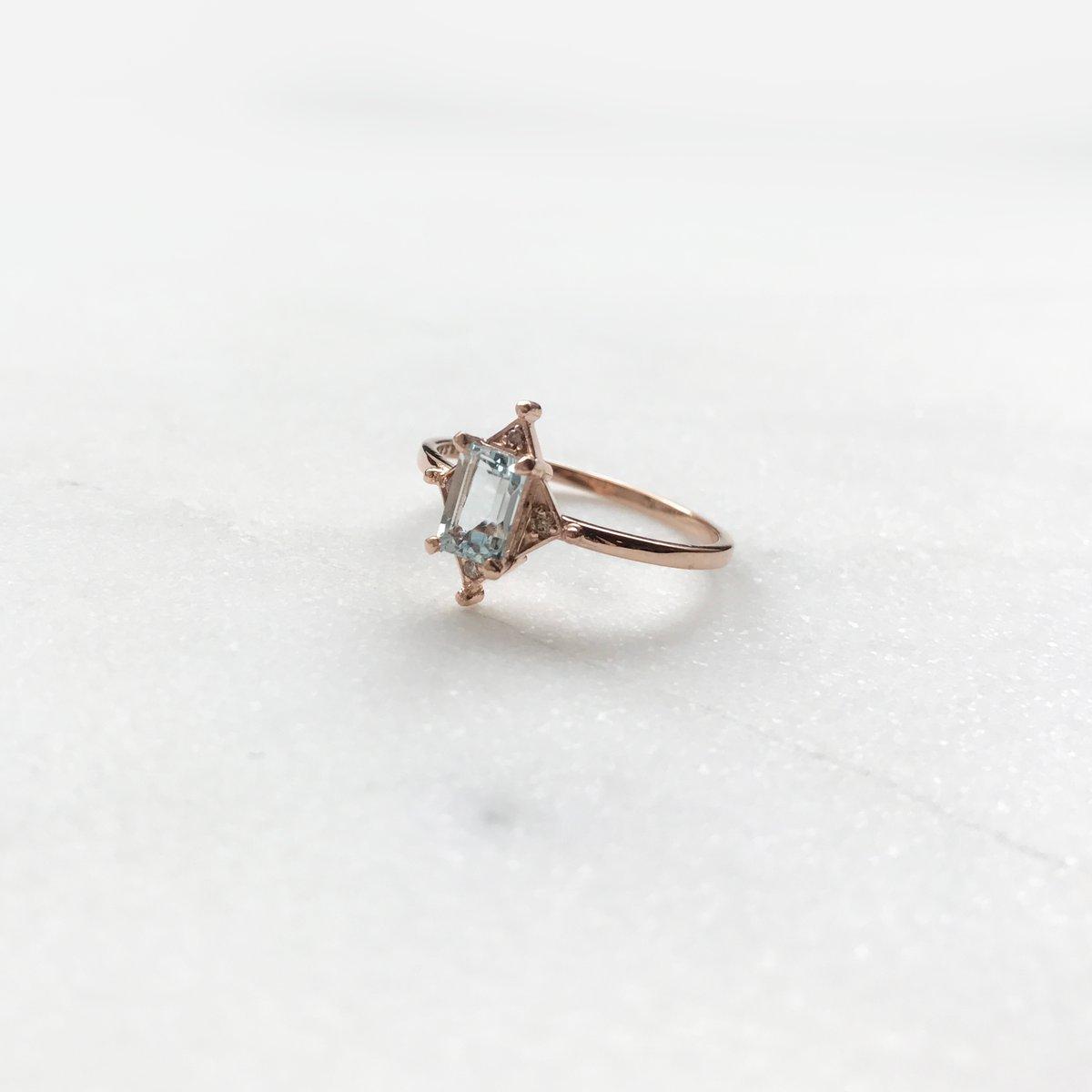 Image of Artdeco Aquamarine Ring