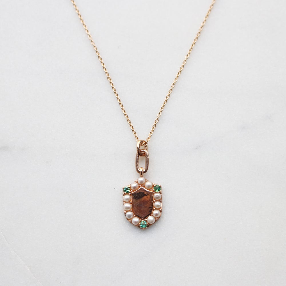 Image of Victorian Shield Necklace