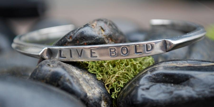 """Image of """"Live Bold"""" Sterling Bracelet"""