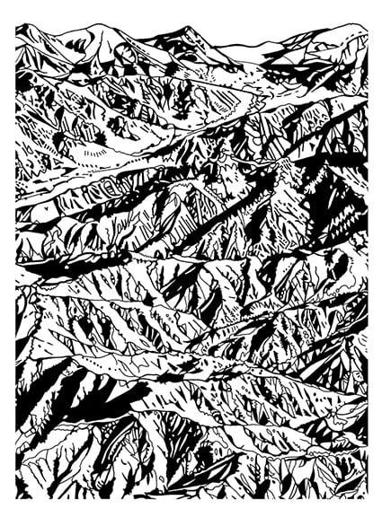 Image of Mountain Screen Print