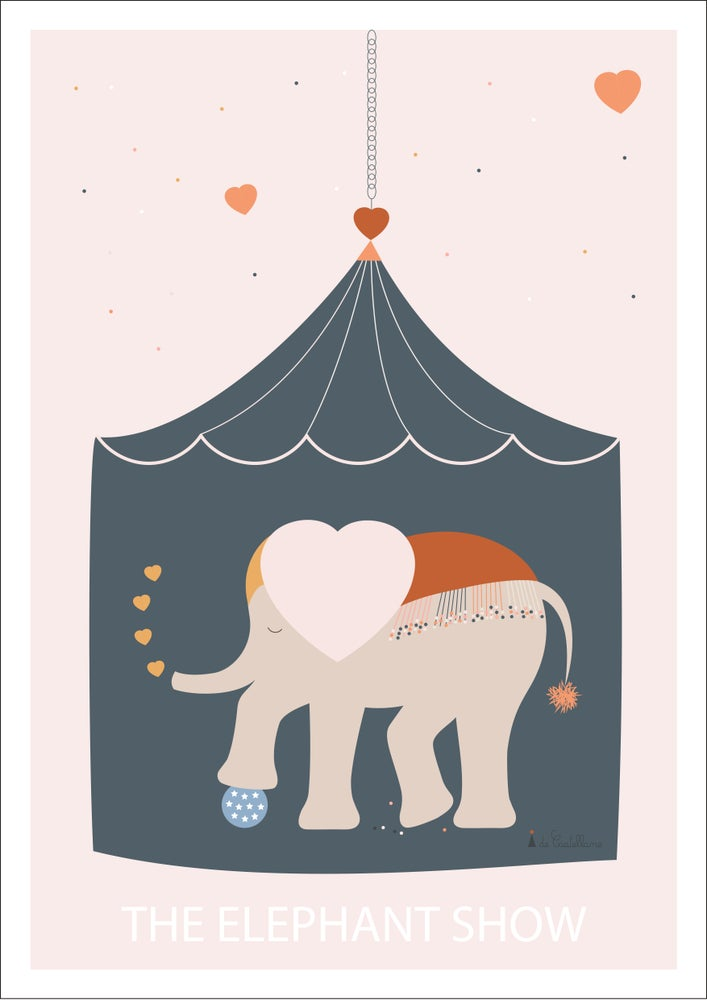 Image of Affiche - The elephant show (A4)