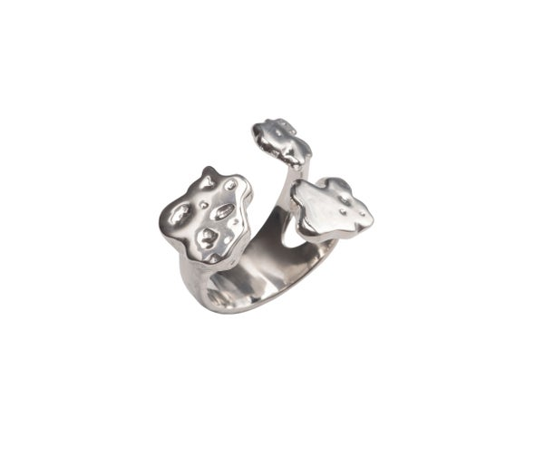 Image of Sterling Silver Mud Stone Ring