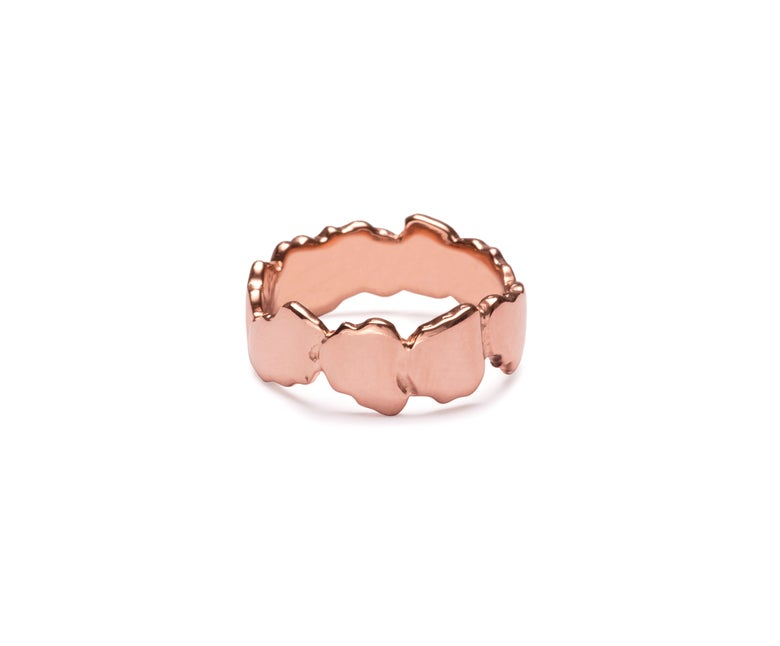 Image of Rose Gold Vermeil Cracked Ring