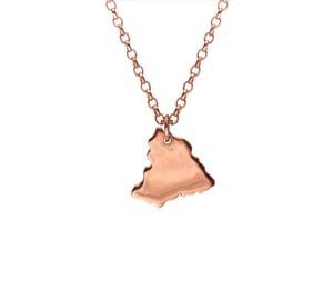 Image of Rose Gold Vermeil Fragment Necklace