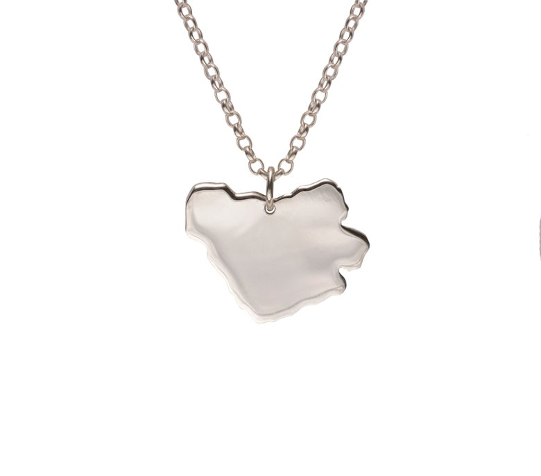 Image of Sterling Silver Clast Necklace