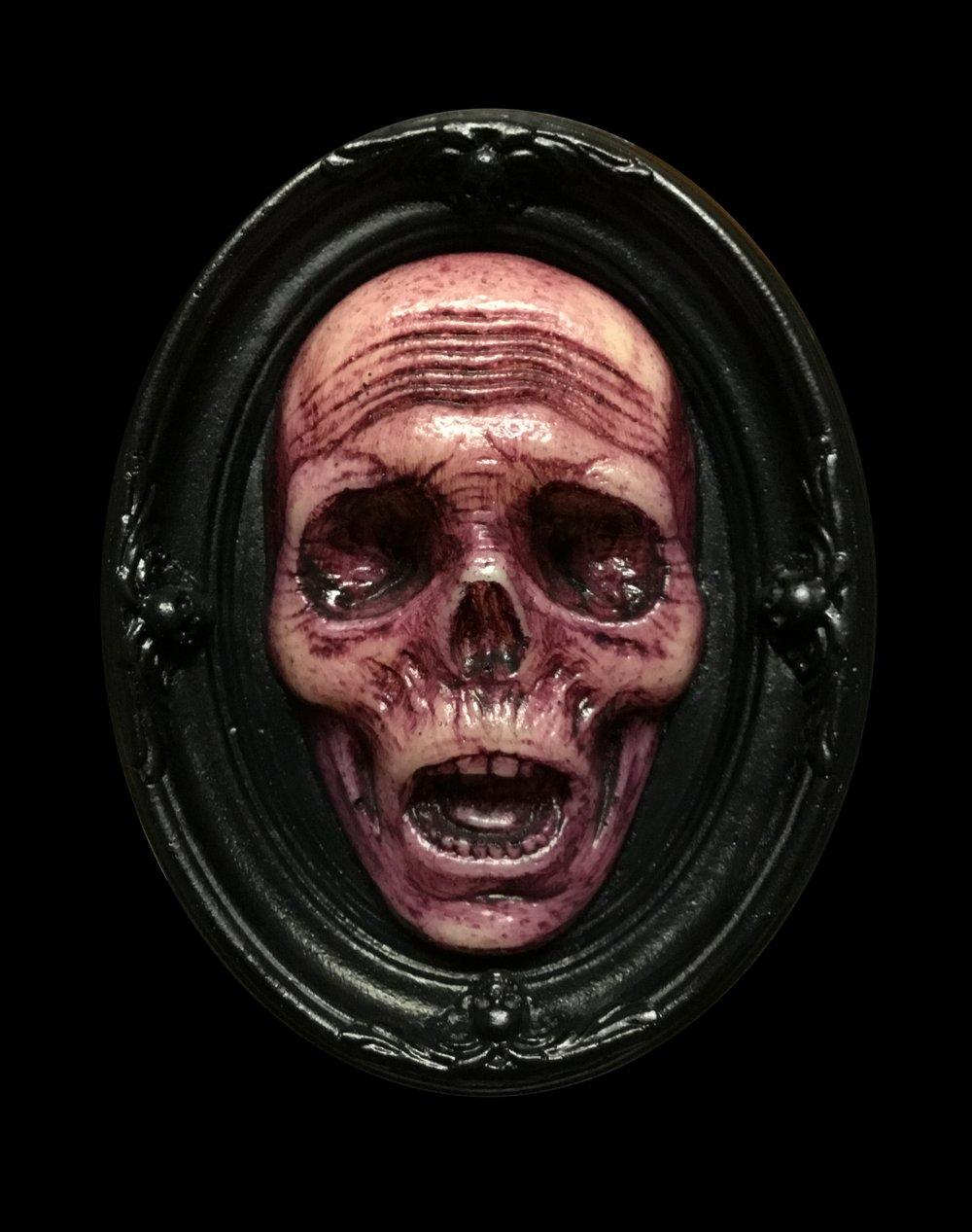 Glow in the Dark Death's Head Mini Plaque- Limited Edition- Magenta Edition