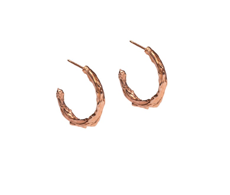 Image of Rose Gold Vermeil Husk Hoops