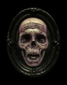 Image of Glow in the Dark Death's Head Mini Plaque- Limited Edition- Purple Edition