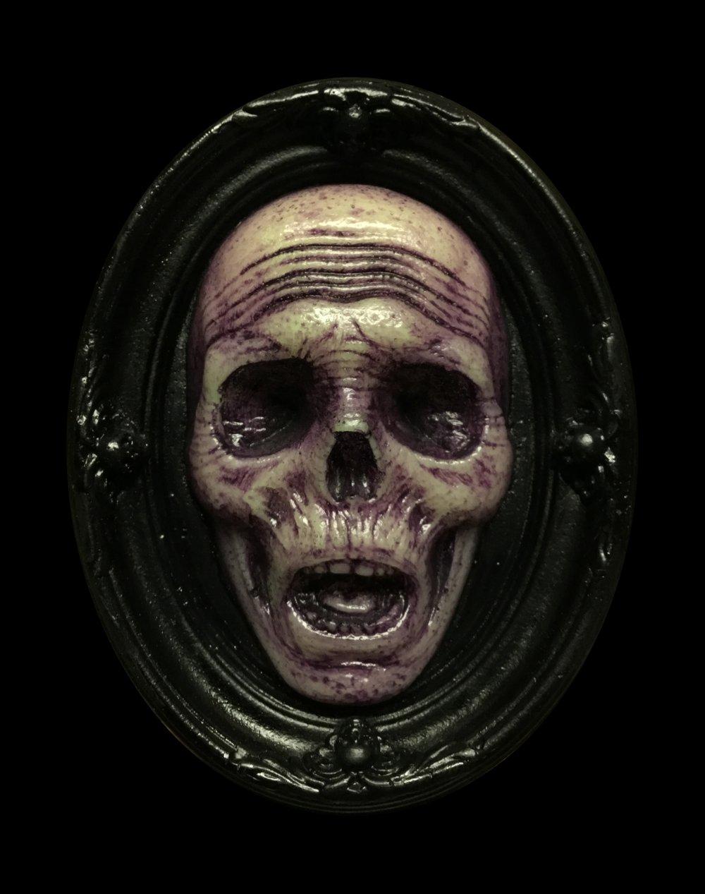 Glow in the Dark Death's Head Mini Plaque- Limited Edition- Purple Edition