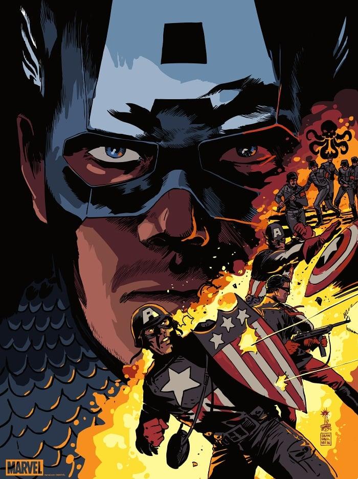 Image of Captain America Mondo Print APs