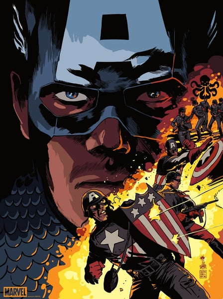 Image of Captain America Mondo Print APs