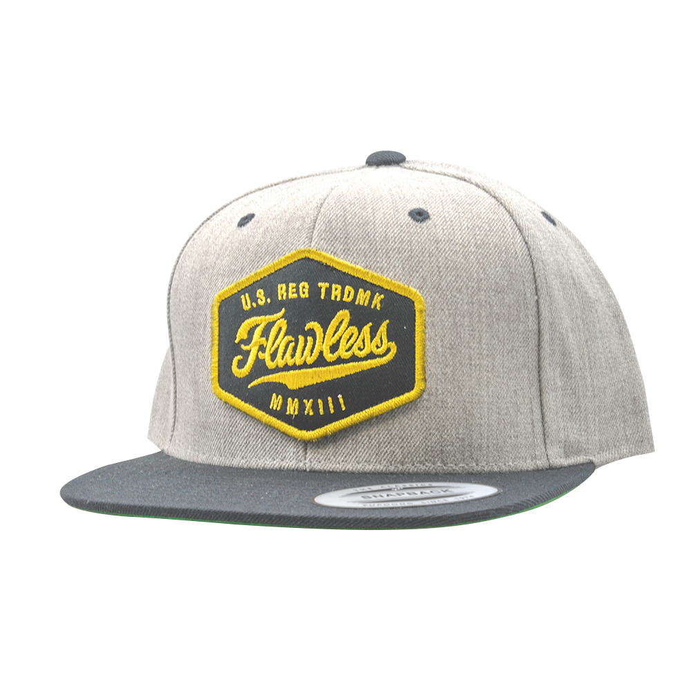 Image of TRADEMARK SNAPBACK - HEATHER/BLACK