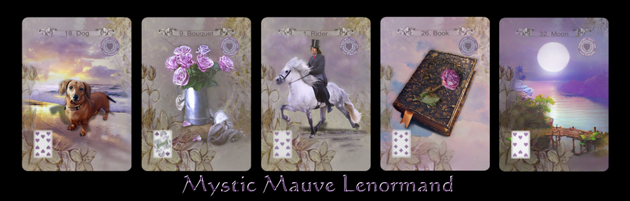 Image of Mystic Mauve Lenormand-Voted 2014 Best Deck - 36 Traditional Cards - (also other sizes and options)