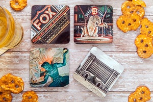 Image of Hardboard Motorcity Coasters (Set of 6)
