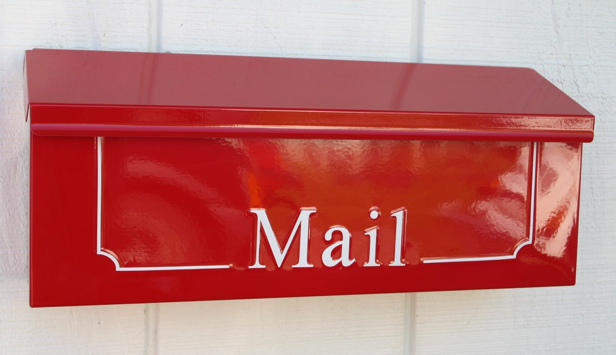 Apple Red Custom Wall Mounted Mailbox By Thebusbox Thebusbox