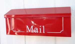 Image of Apple Red Custom Wall Mounted Mailbox by TheBusBox