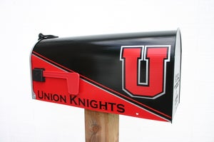 Image of Union Knights Team Themed Mailbox by TheBusBox - Pick your team! College High School Football
