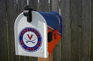 Image of Virginia Tech Cavaliers Custom Painted Mailbox by TheBusBox - NFL, NHL, NBA, Football, Baseball