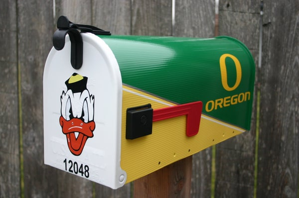 Image of Oregon Ducks Mailbox by TheBusBox - Football, Baseball, High School, College, NFL, NBA, Sports