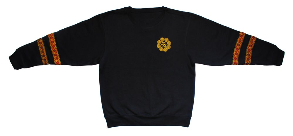 "Image of ""Roots & Culture"" Crew Neck Sweatshirt (Gold & Red)"