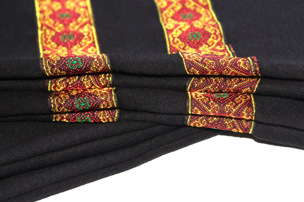 """Image of """"Roots & Culture"""" Crew Neck Sweatshirt (Gold & Red)"""