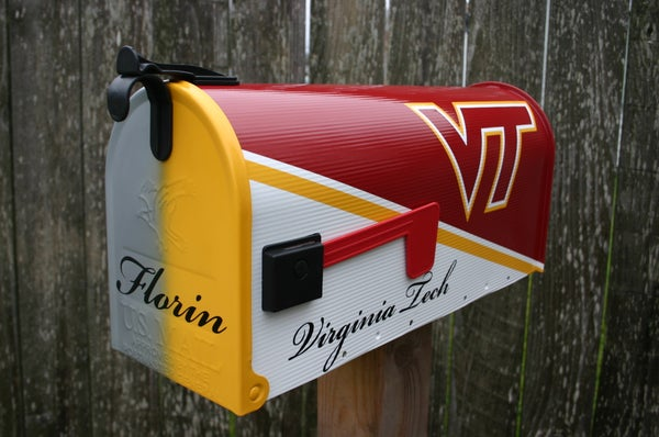 Image of Two Team Mailbox by TheBusBox Virginia Tech and Hampden Sydney College Sports, School, Man Cave Mail