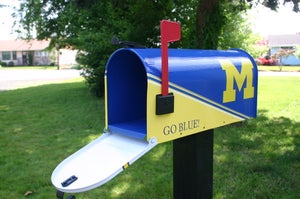 Image of University of Michigan Mailbox by TheBusBox Team, College, Mail Box, Sports, Football, School, Cheer