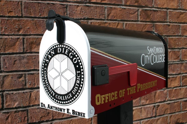 Image of San Diego Community College Presidents Mailbox by TheBusBox - You choose your school or team.