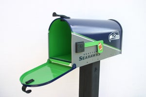 Image of Seattle Seahawks Mailbox by TheBusBox - Choose your team or school. NFL Football Super Bowl Man Cave