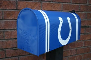 Image of Colts Football Mailbox by TheBusBox - Choose your team or school. Football, NFL, Man Cave Mail Box