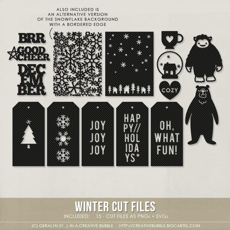 Image of Winter Cut Files (Digital)