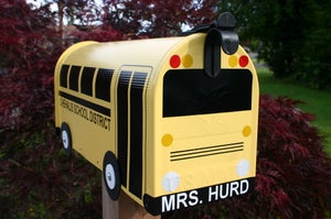 Image of School Bus Mailbox by TheBusBox Teacher Driver Retirement Gift SchoolBus Classroom Kids