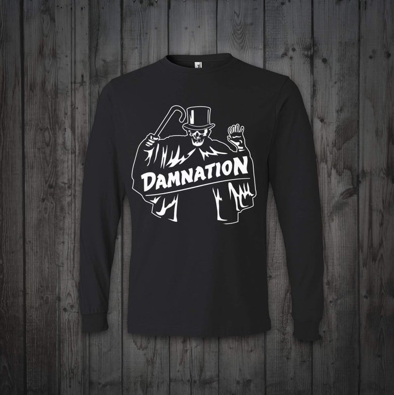 "Image of Damnation ""the Shroud"" glow in the dark long sleeve"